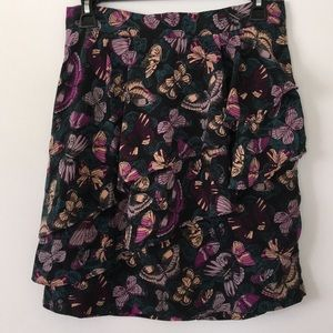 H&M butterfly ruffle skirt